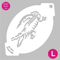 crocodile facepainting stencil