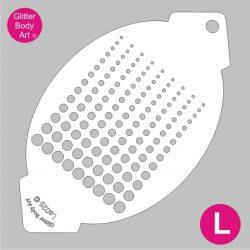 large dots facepainting stencil