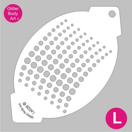 dots facepainting stencil body painting stencil