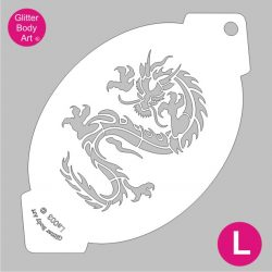 dragon facepainting stencil - dragon bodypainting stencil