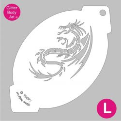 dragon facepainting stencil