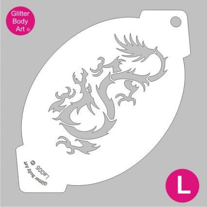 dragon facepainting stencil