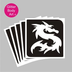 oriental chinese dragon temporary tattoo stencil