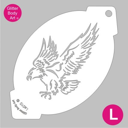 eagle facepainting stencil