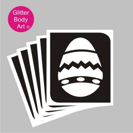 easter egg glitter tattoo stencil, easter egg temporary tattoo
