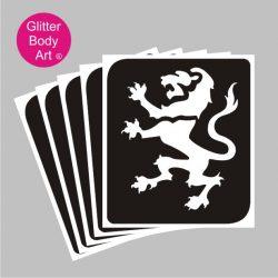 england lion temporary tattoo, 6 nations stencil templates