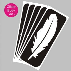 beautiful feather temporary tattoo stencil for glitter tattoos