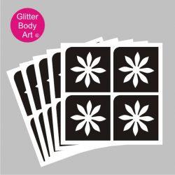 cute mini daisy temporary tattoo stencils, four on a sheet