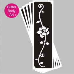 rose floral design temporary tattoo stencil for the back or arm