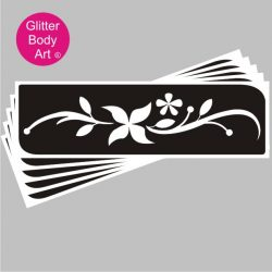 flower armband, henna style temporary tattoo stencil for glitter tattoos and ink tattoos