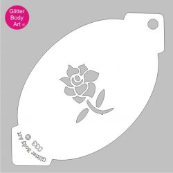 small english rose face paint stencil
