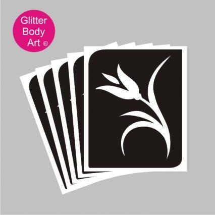 plan tulip temporary tattoo stencil for glitter tattoos