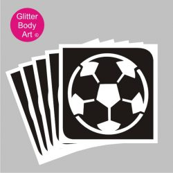 football temporary tattoo stencil