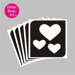 triple hearts temporary tattoos uk