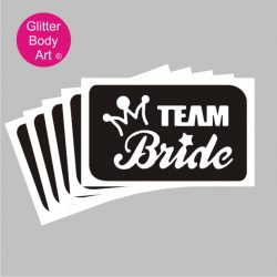 Team Bridge hen party stencil for temporary tattoos