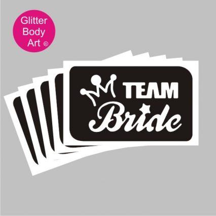 Team Bridge hen party stencil for temporary tattoos