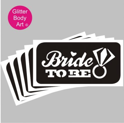 Bride to Be Temporary tattoo, hen party glitter tattoo