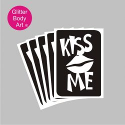 kiss me temporary tattoo for hen party