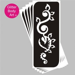 henna floral temporary tattoo stencil, wedding stencil