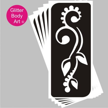 henna floral temporary tattoo stencil design template