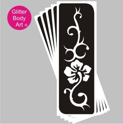 henna style floral temporary tattoo stencil, perfect for henna weddings