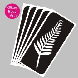 pretty new zealand fern emblem temporary tattoo, NZ Rugby emblem tattoo