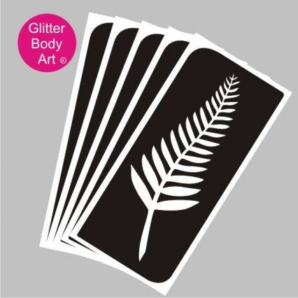 pretty new zealand fern emblem temporary tattoo, NZ Rugby emblem tattoo