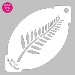 new zealand fern face paint stencil, rugby facepainting stencil