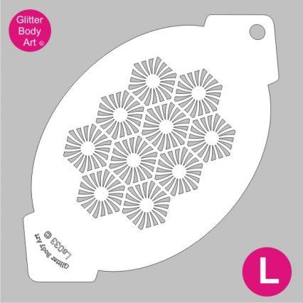 hexagon pattern facepainting stencil