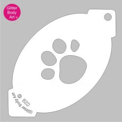 one large animal paw print facepaint stencil