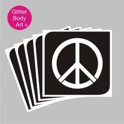 peace symbol temporary tattoo