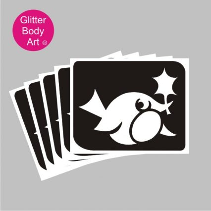 Robin Redbreast bird temporary tattoo christmas stencil