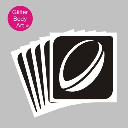 rugby ball temporary tattoos stencil, six nations rugby stencils