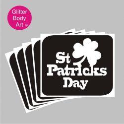 St Patricks Day temporary tattoo stencil, ireland stencil, irish rugby tattoos
