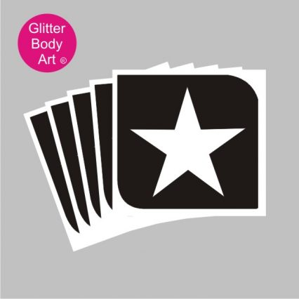 solid star temporary tattoo stencil