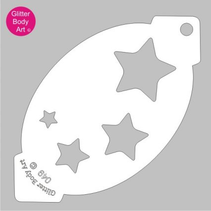 4 stars facepainting stencil, stars cake stencil, arts and crafts stencils