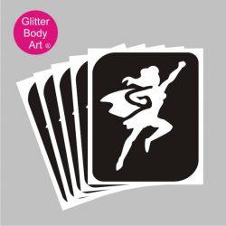 superwoman temporary tattoo stencils