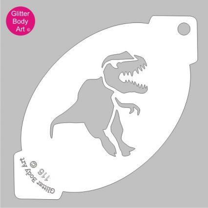 t-rex facepainting stencil, dinosaur face paint stencil template