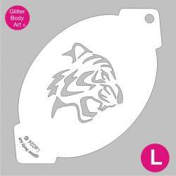 tiger facepainting stencil - bodyart stencil