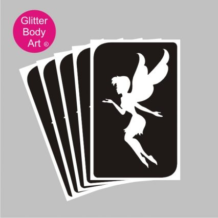 beuatiful fairy temporary tattoo stencil for fairy party, tinkerbell stencil