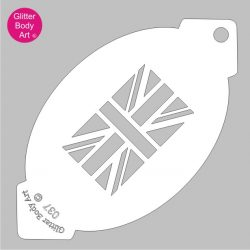 union jack flag facepaint stencil, british facepainting template