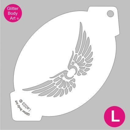 wings facepainting stencil