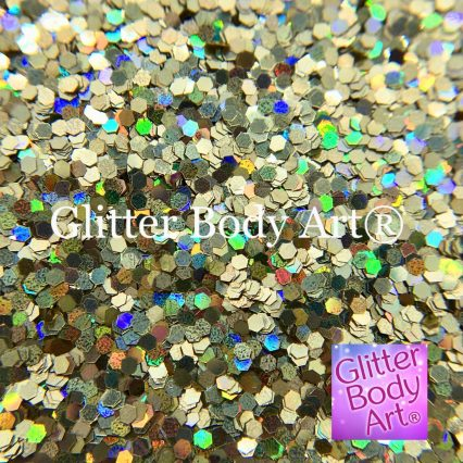 small holographic hexagon shaped glitter