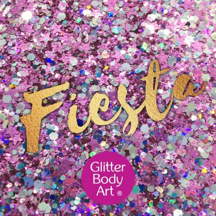 chunky festival glitter makeup for the face