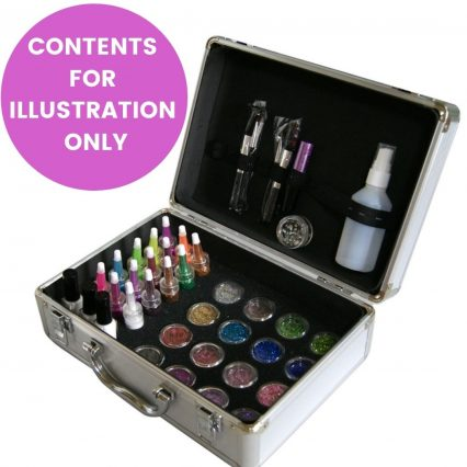 Empty beauty case for storing makeup and glitter, beauty box