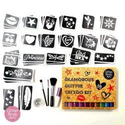 temporary tattoo kit for girls, glitter tattoos, party ideas