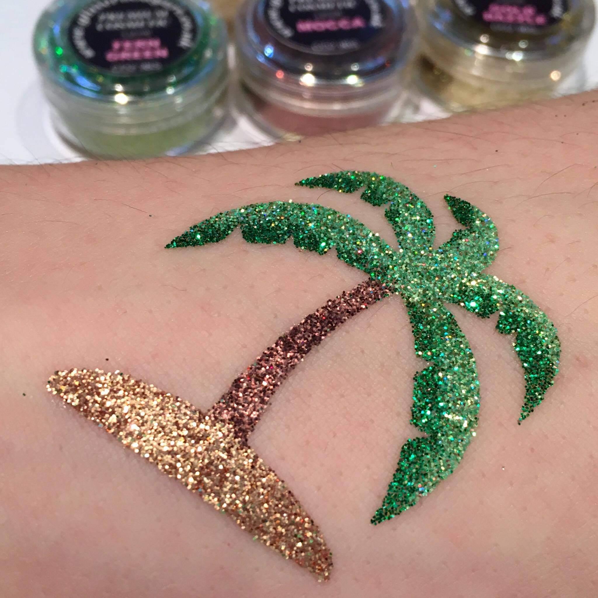 palm tree temporary tattoo stencil