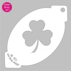 Irish Shamrock facepaint stencil for ireland facepainting stencils,