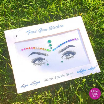 rainbow festival face gem, colour pride face jewel