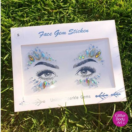 festival face gems - sparkly face jewels